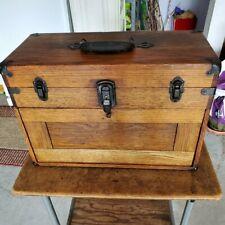 Vintage Oak Machinist Tool Chest 7 Drawers No Key