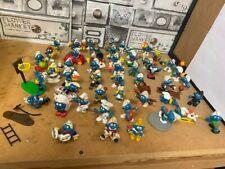 More details for vintage smurfs 1970 - 1980 peyo schleich figures  bundle x 48 h21