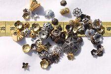Tibetan Style Bead Caps Mixed Shape,Mixed Color 8~20mm in Diameter 1oz