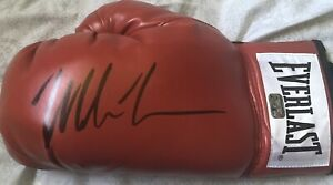 MIKE TYSON Autographed Red Everlast Boxing Glove Athlete Fiterman Holo M