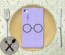 Harry Potter Inspired Glasses Purple iPhone 4,4s,5,5s,5c,6,6 Plus + Rubber Case
