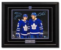 Mitch Marner Auston Matthews Maple Leafs 25x31 Dual Signed Frame #/100 100 Years