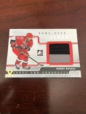 08/09 ITG Heroes And Prospect Silver Jersey Bobby Hughes Hockey Card #GUJ-30