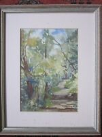 Original  signed watercolour painting of Conache Peru Forest by Irene Ward 1996