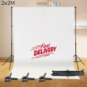 Photography Studio Background Support Stand White Screen Backdrop Photo Bag KIT