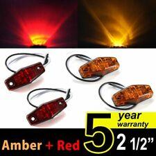 4PCS 2LED Clearance Side Marker Lights Amber + Red for Car Truck Trailer Pickup