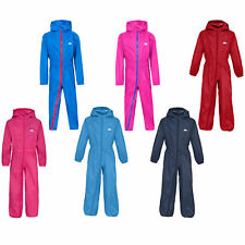 Trespass Button Boys / Girls Waterproof Rainsuit All In One Suit | Kids
