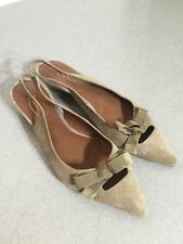 Vintage Talbots Brown Suede Point Toe Flat Sandals 7B