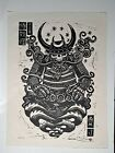 "Attack Peter Samurai Yokai Ghost of Tsushima 20"" X 15"" LINOLELUM BLOCK PRINT #42"