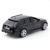 1:36 Audi RS 6 Avant Die Cast Modellauto Auto Spielzeug Schwarz Geschenk Kinder