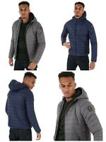 HENLEYS MENS CARLYON HOODED PUFFA JACKET VARIOUS SIZES COAT PUFFER RRP £59.99