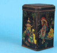 uralte Blechdose - Teedose - farbig - asiatisches bzw. chinesisches Motiv /S50