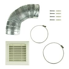 Kitchen Cooker Hood Flat Vent Ducting Kit 150mm x 3m Universal Fit for Extractor