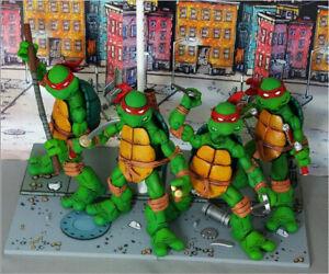 "Teenage Mutant Ninja Turtles 5"" Action Figures Red Headband Collectible Set"