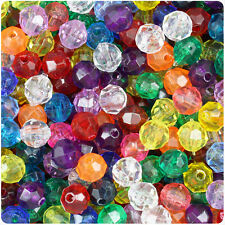 500 - 8MM Multi-Color Faceted Plastic Beads - great price and a must need!