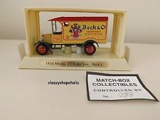Matchbox Collectibles YGB-02 1926 Model TT Ford Van in BECK & CO Logo