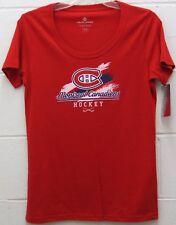 Montreal Canadiens Women's NHL Daily Tee Shirt Top Hockey Club Red M Medium New