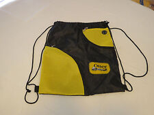 Otter Box Hit Promotional Products blk yel backpack string bag sack light weight
