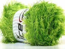 100 Gram Eyelash Yarn - Lime Green - #22740 - Ice Bright Green Fun Fur 164yds