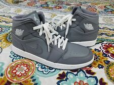 Air Jordan 1 I Mid Retro Cool Grey Mens Sz 11 Basketball Shoes Sneakers Gray