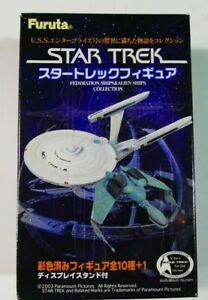 Star Trek Furuta Federation ships and Alien Ships BNIB