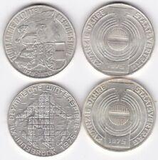 Silber Silbermünzen 4x  100 Schilling  640er Silber  1975 1976