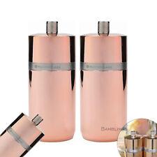 2x MasterClass Salt or Pepper Mill 12cm Copper Effect Mill Ceramic Mechanism