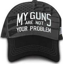 My Guns Are Not Your Problem American Flag Patriotic USA Trucker Cap Hat 9133