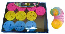 LED Licht Nacht  Kinder Slinky gelb blau pink Sternenhimmel  Spirale Baby  NEU