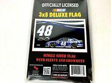 Jimmie Johnson NASCAR #48 Deluxe Grommet Flag Licensed Single Sided 3' x 5' NEW
