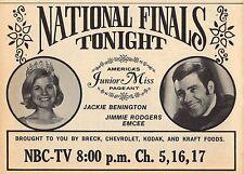 1970 NBC TV AD~AMERICA'S JUNIOR MISS PAGEANT~JACKIE BENINGTON~JIMMY RODGERS