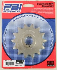 PBI - 496-14 - Front Countershaft Sprocket, 14T - Made In USA