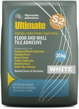 Highly Flexible Fast Wall/Floor Tile Adhesive in WHITE 20kg (S2 Rating)