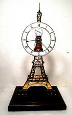 "Tres Bien La Tour Eiffel Skeleton Clock 24"" High"