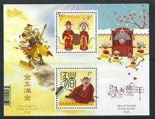 CANADA 2020 YEAR OF THE RAT  TRANSITIONAL MINIATURE SHEET UNMOUNTED MINT, MNH