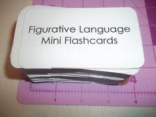 100 Miniature Size Figurative Language Flash Cards.  ELA, Spelling, Speech.