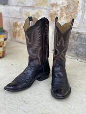 Vintage Rios of Mercedes Brown Calf Cowboy Boots