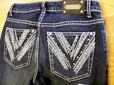 Tru Luxe Luxemburg Mid Rise Skinny Crop Jeans Size 2/26 $120 Value!-CL0294