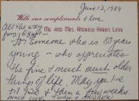 1989 ALS, Autograph Letter - Actress - 'TOVAH FELDSHUH'