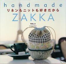 LINEN & KNIT HANDMADE ZAKKA - Japanese Craft Book