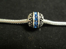 925 Sterling Silver European Bead Charm Birthstone September