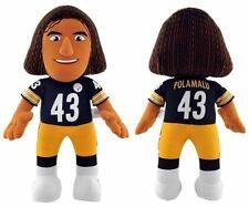 NWT NFL Pittsburgh Steelers Troy Polamalu 14-Inch Plush Doll Bleacher Creatures
