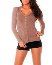 Gilet/Vest Femme/Woman Taille unique S/M (du 36 au 40) taupe NEUF