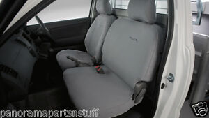 Toyota Hilux Front Canvas Seat Covers 2× Bucket Seats Auto Workmate GENUINE NEW*
