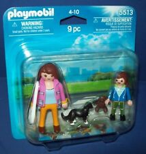 PLAYMOBIL 5513 Mother with School Child teddy bear and Dog ~ NEW Sealed