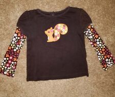 Gymboree Fall for Autumn size 2T long sleeve squirrel shirt