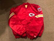 NFL Kansas City chiefs starter satin jacket vintage red yellow football XL kc