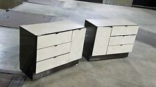 Pair of Ello Chevron Patterned Travertine Dressers  *(ASK FOR SHIPPING QUOTE)*