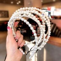 Elegant Women Pearl Headband Crystal Hairband Hair Hoop Hair Accessories Party
