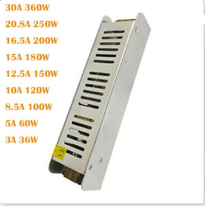 Ultra Thin LED Power Supply DC12V Lighting Transformers 110V-230V For LED Strip